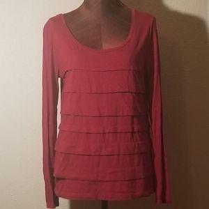 3for$20 - Loft red ruffle tunic